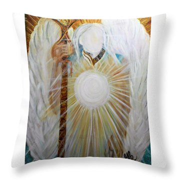 Trust - Michaelarchangel Series Throw Pillow