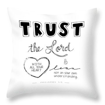 Throw Pillow featuring the digital art Trust by Nancy Ingersoll