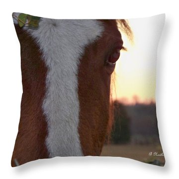 Throw Pillow featuring the photograph Trusting by Betty Northcutt