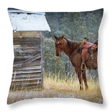 Trusty Horse  Throw Pillow
