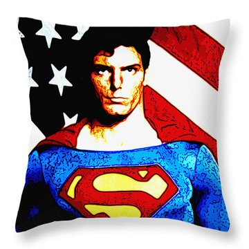 Truth And Jusice Throw Pillow by Saad Hasnain