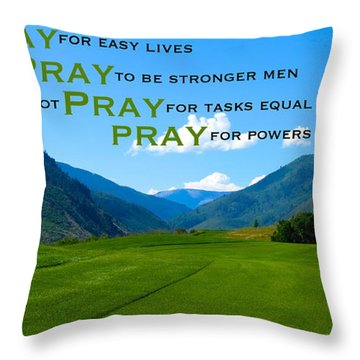 Truth In Fellowship Throw Pillow