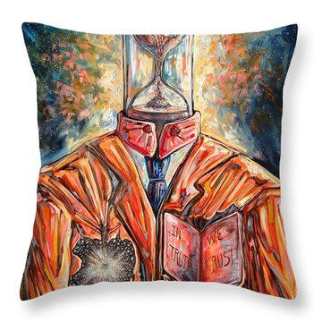 Truth Running Out Of Time Throw Pillow by Darwin Leon