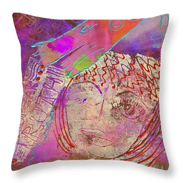 Throw Pillow featuring the painting Truthfully Speaking by Angela L Walker