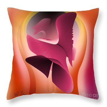 Try To Catch The Love Throw Pillow by Leo Symon