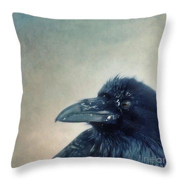 Try To Listen Throw Pillow by Priska Wettstein
