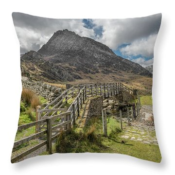 Throw Pillow featuring the photograph Tryfan And The Ogwen Valley by Adrian Evans