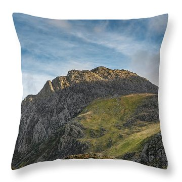 Throw Pillow featuring the photograph Tryfan Snowdonia by Adrian Evans