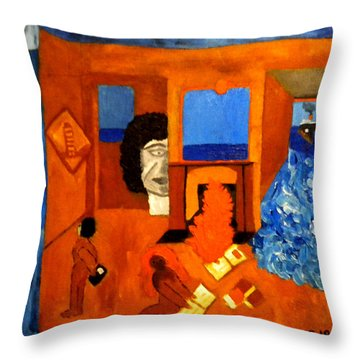 Trying To Find The Way Out Or Is It Better To Stay   Throw Pillow by Colette V Hera  Guggenheim