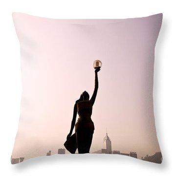 Tsim Sha Tsui K Throw Pillow by Ray Laskowitz - Printscapes