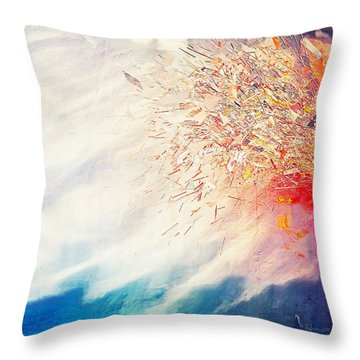 Throw Pillow featuring the painting Tsunami by Mark Taylor