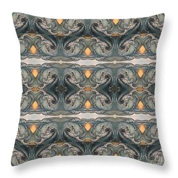 Tsunami Mirror Pattern Throw Pillow