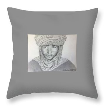 Tuareg Beduin Throw Pillow
