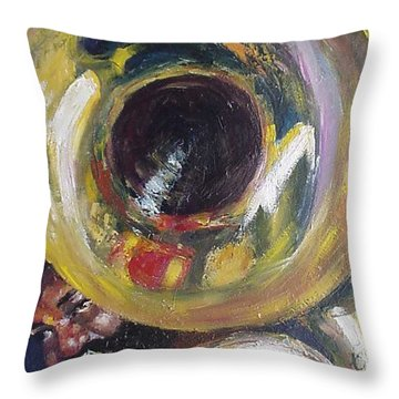 Tuba Fats Throw Pillow