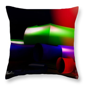 Tubbing In A Fractal Throw Pillow