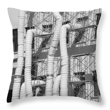 Tube Construction Throw Pillow by Rob Hans