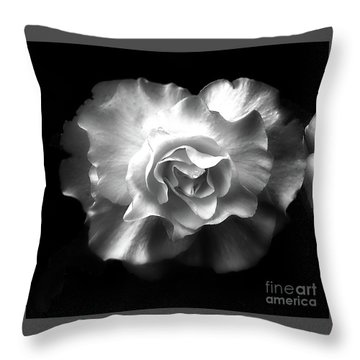 Throw Pillow featuring the photograph Tuberous Begoonia by Ann Jacobson