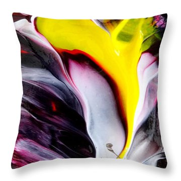 Tublar Rose Throw Pillow by Fred Wilson