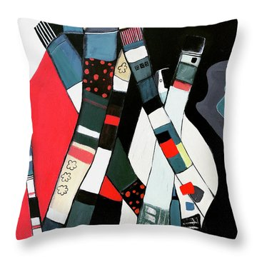 Tubular City Throw Pillow