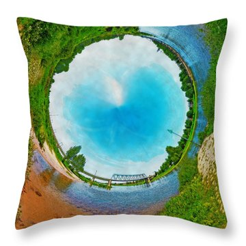 Tubular Panorama Deventer Throw Pillow