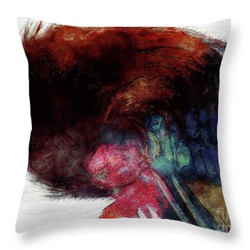 Throw Pillow featuring the photograph Tucked In For The Night by Claire Bull