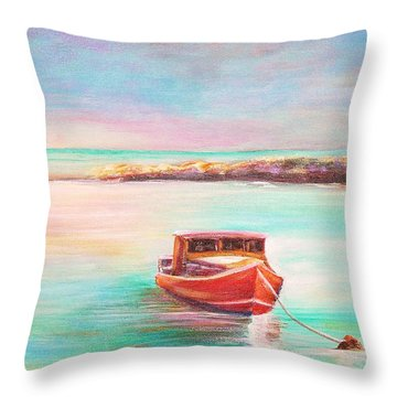 Tucked In Throw Pillow by Patricia Piffath