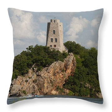 Tucker Tower In Summer Throw Pillow