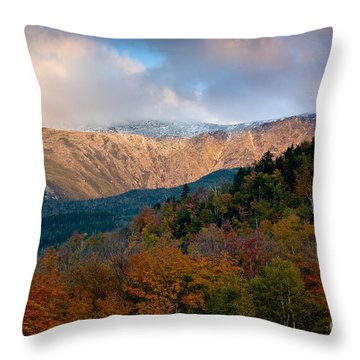 Tuckermans Ravine In Autumn Throw Pillow by Susan Cole Kelly