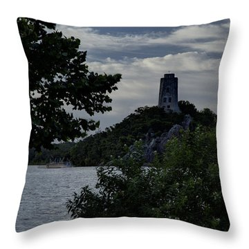 Tuckers Tower  Throw Pillow