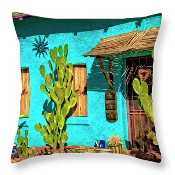 Tucson Blue Throw Pillow