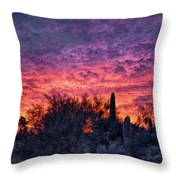 Tucson Sunrise Throw Pillow