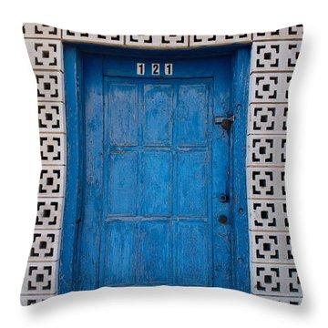 Tucumcari Door New Mexico  Throw Pillow