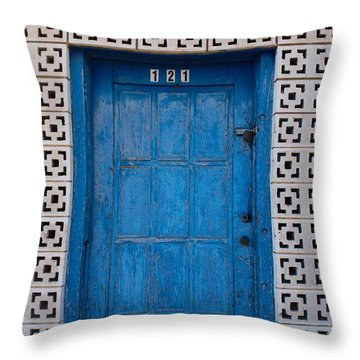 Tucumcari Door New Mexico  Throw Pillow