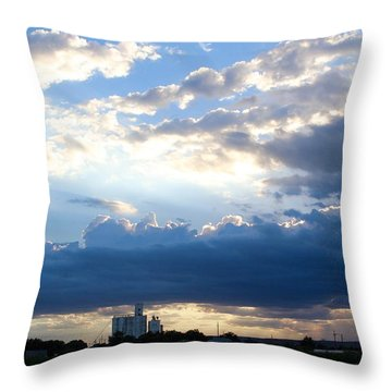 Tucumcari Grain Tower Throw Pillow