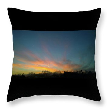 Throw Pillow featuring the photograph Tuesday Sunrise by Anne Kotan