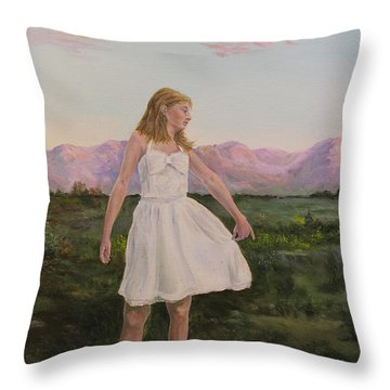 Tuesday's Child Throw Pillow