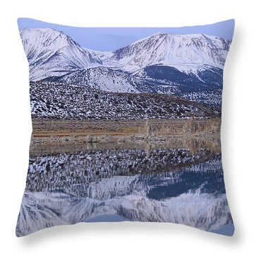 Tufa Dawn Winter Dreamscape Throw Pillow