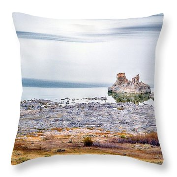 Tufa Formations At Mono Lake Throw Pillow