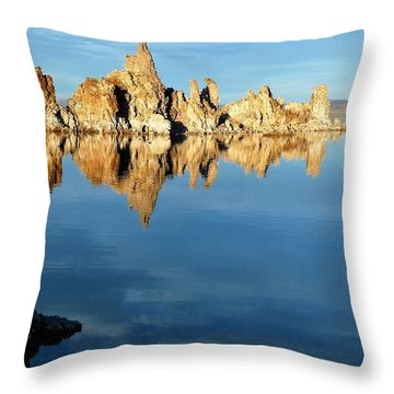 Tufa Reflection At Mono Lake Throw Pillow