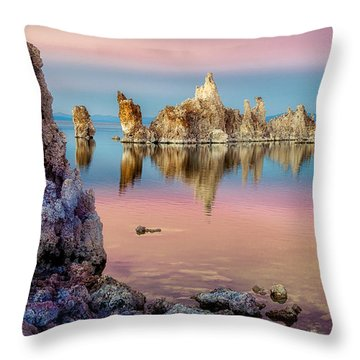 Tufas At Mono Lake Throw Pillow