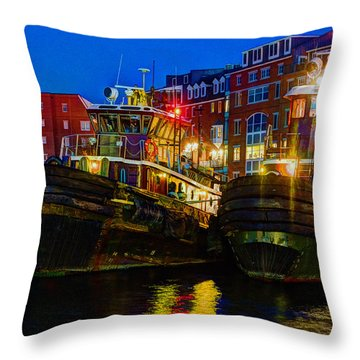 Tug Boat Alley 026 Throw Pillow
