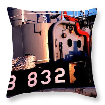 Tug Boat Throw Pillow by Thomas R Fletcher