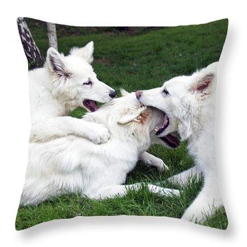 Tug Jane And Greta Throw Pillow