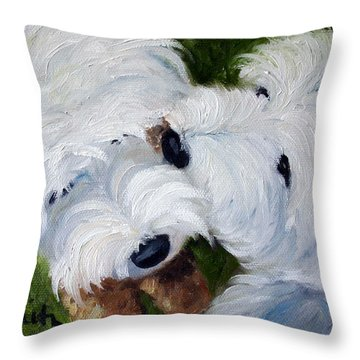 Tug Of War Throw Pillow by Mary Sparrow