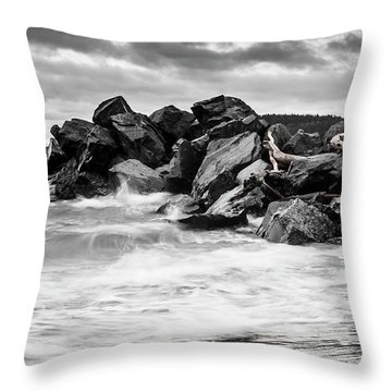 Tugboat Cove Throw Pillow