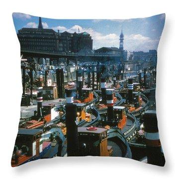 Tugs - Hamburg Throw Pillow