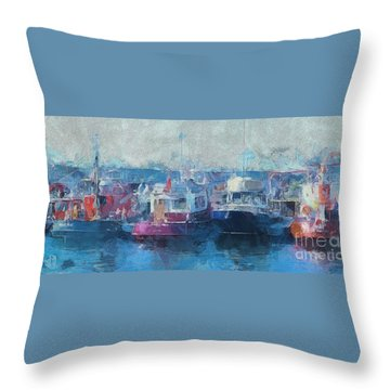 Tugs Together  Throw Pillow