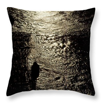 Tugs Towing Log Boom 2  Throw Pillow by Lyle Crump