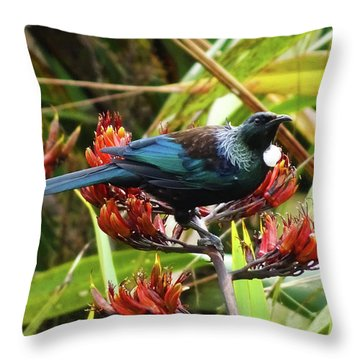 Tui In Flax Throw Pillow