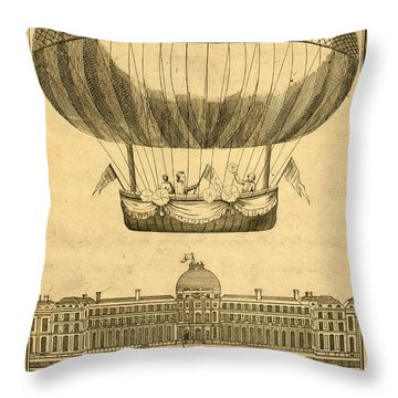 Tuileries Garden, Paris Throw Pillow